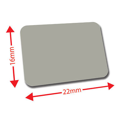 Sheet of 120 Grey 22mm x 16mm Mini Library Labels