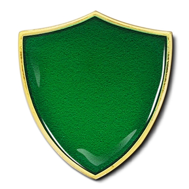 Shield Badge - Enamel (Green)