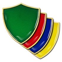 Shield Badge Plain - Enamel (4 Colour options)
