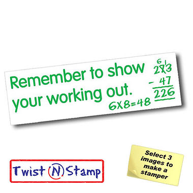 Show Your Working Out Stamper - Twist N Stamp