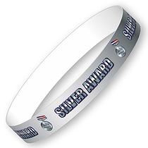 Silver Award Wristbands (10 Wristbands - 265mm x 18mm)