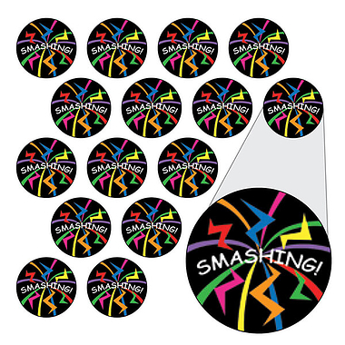Smashing Stickers (196 Stickers - 10mm)