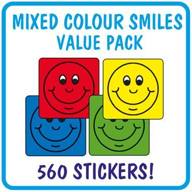 Smiles Value Pack (560 Stickers - 16mm Square)