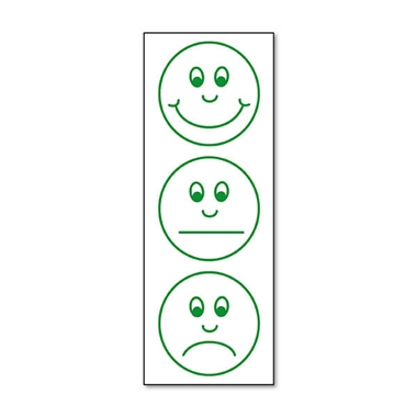 Smiley Face Expressions - Green Ink (38mm x 15mm)