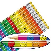 Smiley Face Pencils - Multicoloured (x12)