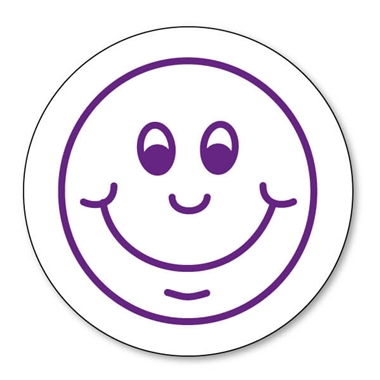Smiley Face Stamper - Purple Ink (25mm)