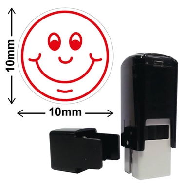 Smiley Face Stamper - Red Ink (10mm)