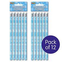 Snowflake Pencils (12 Pencils)