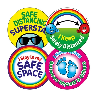 Social Distancing Stickers (20 Stickers - 32mm)