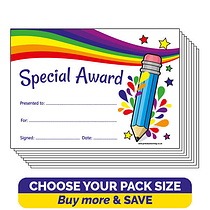 Sparkly Special Award Certificates (A5)