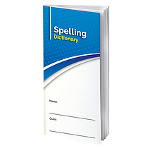 Spelling Book Dictionary - Blue (210mm x 99mm)