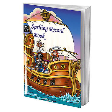 Spelling Record Books - Pirates (A5 - 56 Pages)