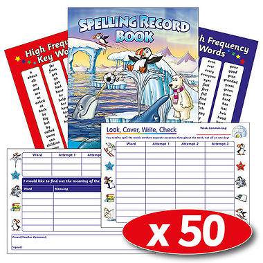 Spelling Record Books - Polar (50 Books Included)