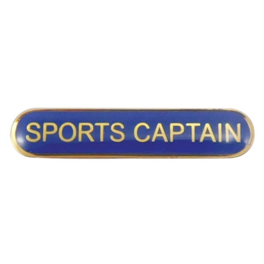 Sports Captain Enamel Badge - Blue (45mm x 9mm)