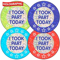 SPORTS DAY - I took part today Holographic Stickers (35 Stickers - 37mm)
