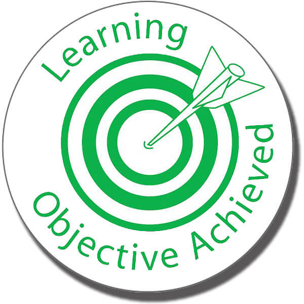 how to show learning objective evidence