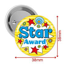 Star Award Badges (10 Badges - 38mm) Brainwaves