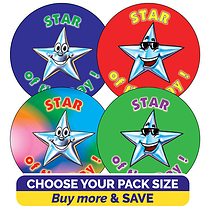 Star of the Day Stickers (37mm)