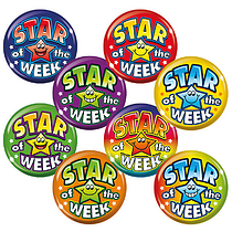 Star Of The Week Badges - Maxipack (40 Badges - 38mm) Brainwaves