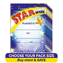 Star of the Week Certificates (A5)