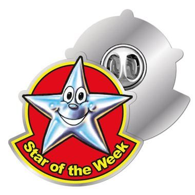 Star Of The Week Enamel Badge