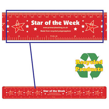 Star of the Week Flexible Recycled Rulers - 30cm (Pack of 4)