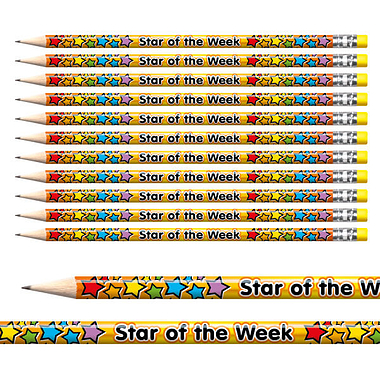 Star of the Week Foil Pencils (12 Pencils) Brainwaves
