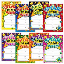 Star of the Week Megamix Portrait Certificates (48 Certificates - A5)