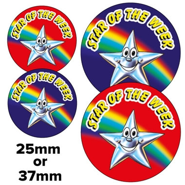 Star of the Week Stickers (2 Sizes)