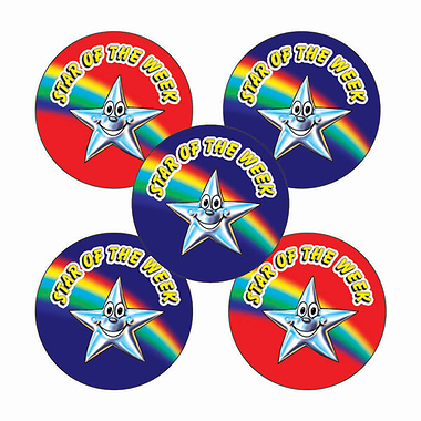 Star of the Week Stickers (70 Stickers - 25mm)