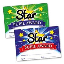 Star Pupil Award Certificates (20 Certificates - A5)