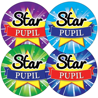 Star Pupil Stickers (35 Stickers - 37mm)