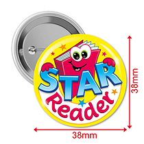 Star Reader Badges (10 Badges - 38mm) Brainwaves