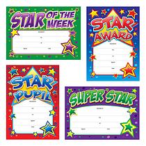 Star Reward Certificates (20 Certificates - A5) Brainwaves