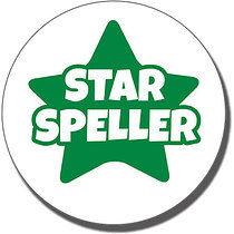 Star Speller Stamper - Green Ink (25mm)