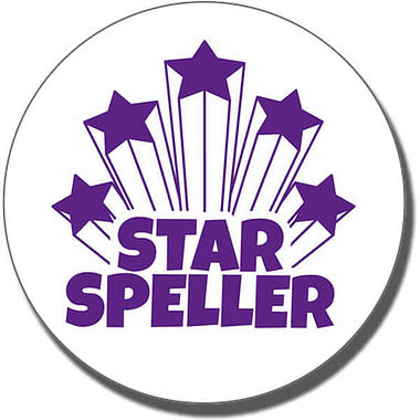 Star Speller Stamper - Purple Ink (25mm)