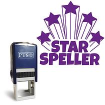 Star Speller Stamper - Purple Ink (25mm)
