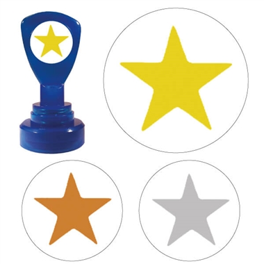 Star Stamper  Gold Silver Bronze (25mm)