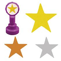 Star Stamper  Gold Silver Bronze (25mm)
