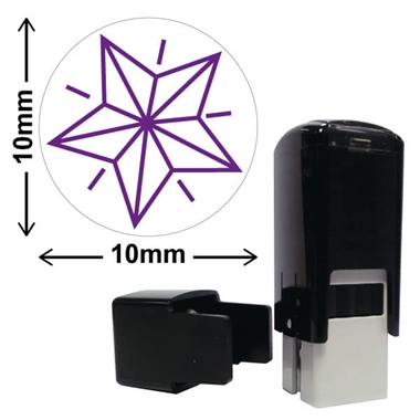 Star Stamper - Purple Ink (10mm)