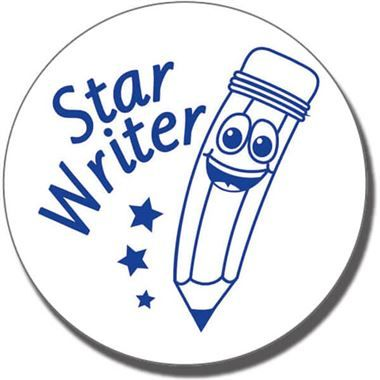 Star Writer Stamper - Blue Ink (25mm)