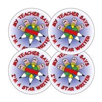 Star Writer Stickers - Pencils (20 Stickers - 32mm)