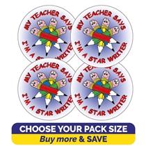 Star Writer Stickers - Pencils (32mm)