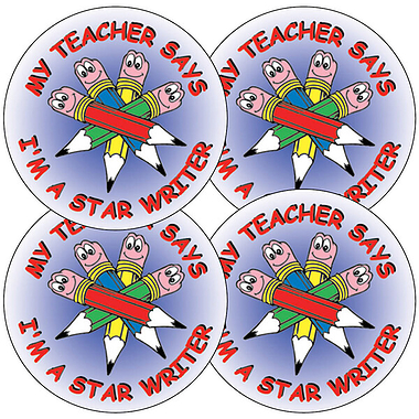 Star Writer Stickers - Pencils (35 Stickers - 37mm)