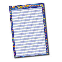 Sticker Collector Chart - Superstar Learners (A2 - 620mm x 420mm)