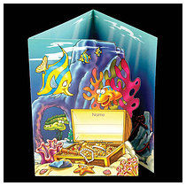 Sticker Reward Cards - Underwater Scene (10 Cards - A5)