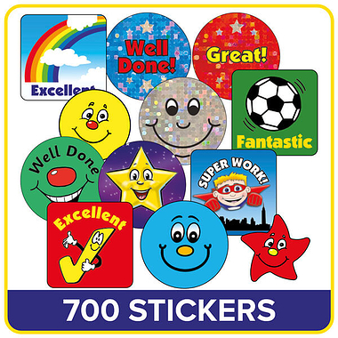Stickers Value Pack (610 Stickers)