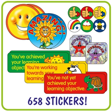 Stickers Value Pack (658 Stickers)