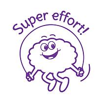 Super Effort Stamper - Purple Ink (25mm) Brainwaves