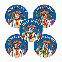 Super Science Stickers (30 Stickers - 25mm)
